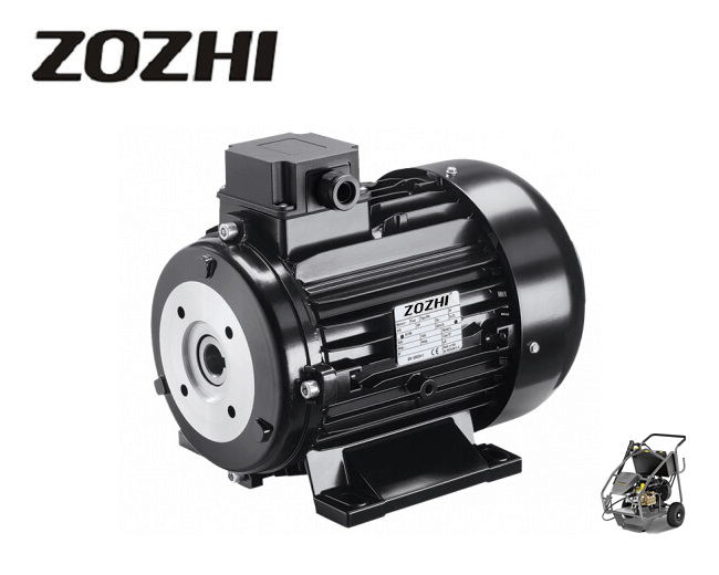 400Volt 5.5HP/4KW 1500 Rpm 24mm HS100L3-4 Hollow Shaft Electric Motor For Cleaning Machine